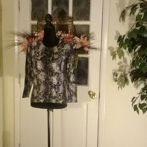 Cable & gauge Snake print cardigan size M
